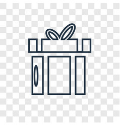 giftbox concept linear icon isolated on vector image
