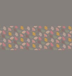 Hand drawn gingko leaves seamless border pattern vector