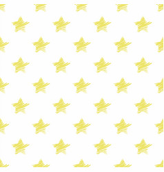 hand drawn yellow stars seamless pattern vector image
