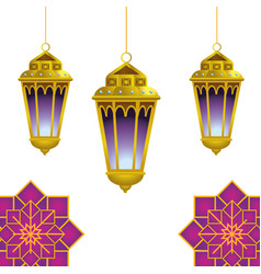 Hanging lamp icon vector