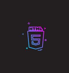 Html 5 icon design vector