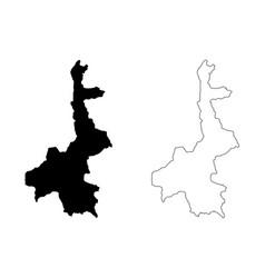 Mandalay region map vector