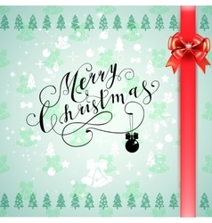 Merry christmas glittering lettering design vector