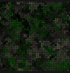 military camouflage seamless pattern dark wood vector image