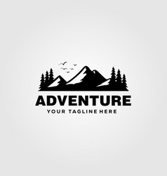 Mountain adventure logo vintage design vector