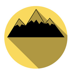 mountain sign flat black vector image