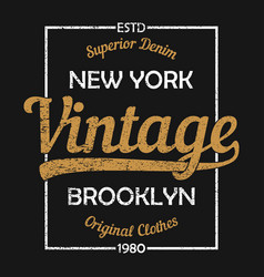 new york vintage graphic for t-shirt vector image