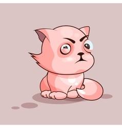 Nice cat squints vector