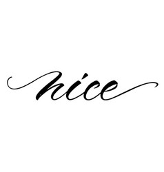 nice lettering vector image