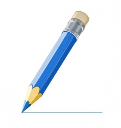pencil drawing line vector image