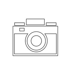 photo camera picture device flash lent vector image