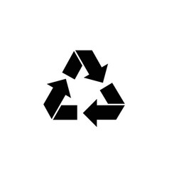 recycle ecology recycling flat icon vector image