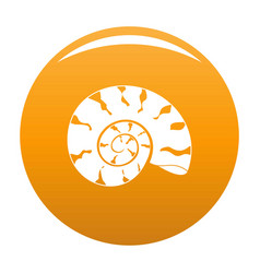 Round shell icon orange vector