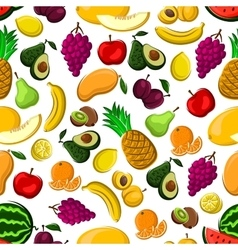 seamless pattern healthy fresh fruits vector image