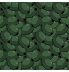 Seamless texture with olives vector