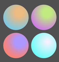 Set of gradient futuristic circles design vector