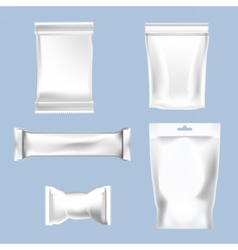 set of white polyethylene foil package vector image