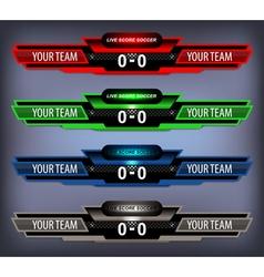Soccer Live Scoreboard vector