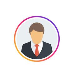social media icon avatar frame vector image
