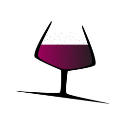 Sparkling red wine vector
