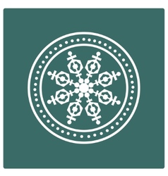 Stamp of snowflake vector image