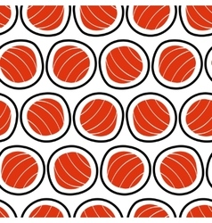 Sushi seamless pattern hand drawn Emblem of vector