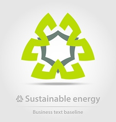 Sustainable energy business icon vector image