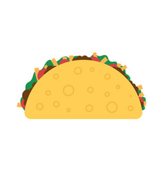 Taco mexican food vector