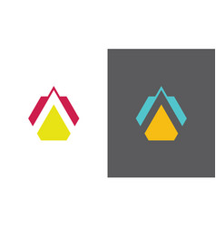 triangle letter a company logo vector image