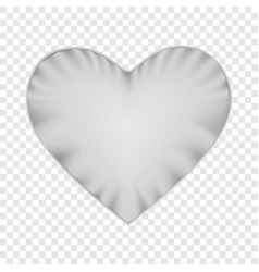 White heart shape pillow mockup realistic style vector