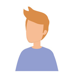 young and casual man character vector image