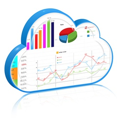 Cloud business process management concept vector image
