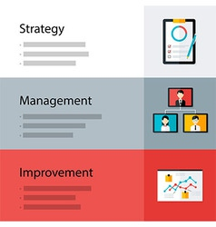Strategy management improvement template vector image