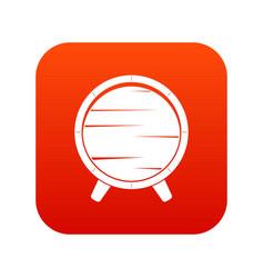 barrel on legs icon digital red vector image vector image