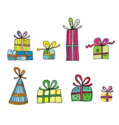 cute colorful presents vector image