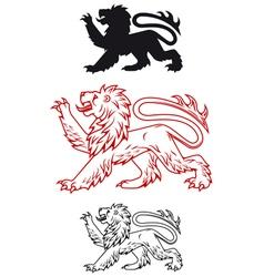 Medieval heraldic lion vector image vector image