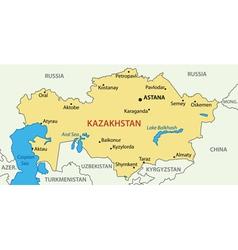 Republic of kazakhstan - map vector