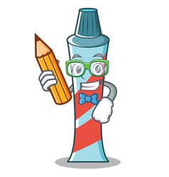 student toothpaste character cartoon style vector image vector image