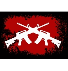 Two crossed assault guns vector image vector image