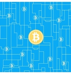Bitcoin global business concept vector image vector image