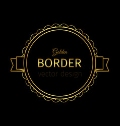 golden border on the label vector image vector image