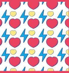 Heart love and energy hazard symbol background vector