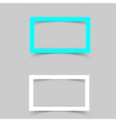 Paper white frame shadow vector image