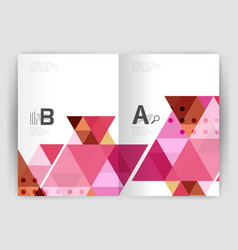 print triangle modern print template vector image vector image