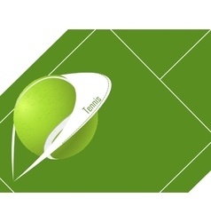 tennis background with ball vector image vector image