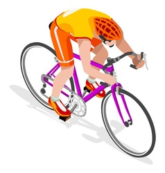 Cycling Road 2016 Sports 3D Isometric vector image vector image