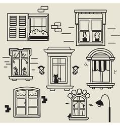 Hand drawn windows vector image vector image