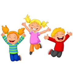 Happy kid cartoon vector image vector image