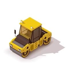 Isometric road roller vector