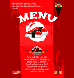poster for japanese sushi restaurant vector image